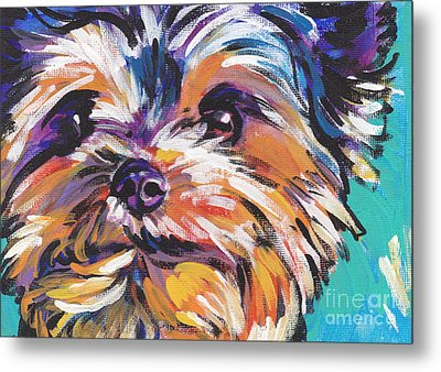 Yay Yorkie  Metal Print by Lea S