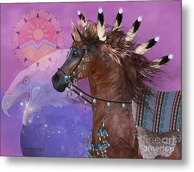 Year Of The Eagle Horse Metal Print by Corey Ford