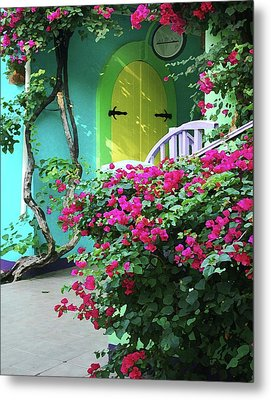 Yellow Door Metal Print by Michael Thomas