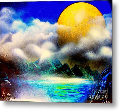 Yellow Moon 4682 E Metal Print by Greg Moores