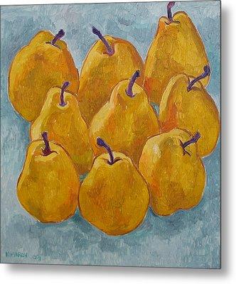 Yellow Pears Metal Print by Vitali Komarov