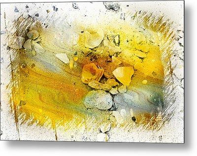 Yellow Shells Metal Print by Kathleen Struckle