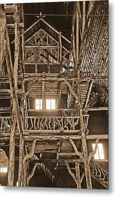 Yellowstone - Old Faithful Inn 3 Metal Print by Steve Ohlsen