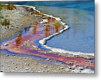 Yellowstone Abstract I Metal Print by Teresa Zieba