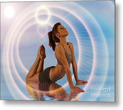 Yoga Girl 1209206 Metal Print by Rolf Bertram