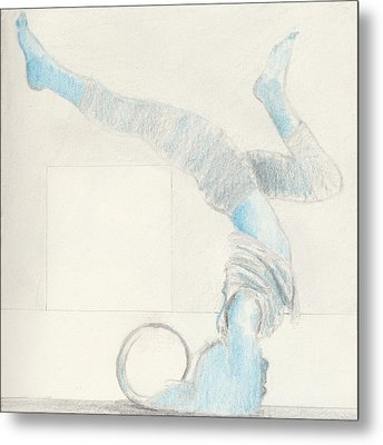 Yoga Takes Me To Another World.  Metal Print by R G Alexander