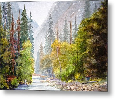 Yosemite Mist Metal Print by Shirley Braithwaite Hunt