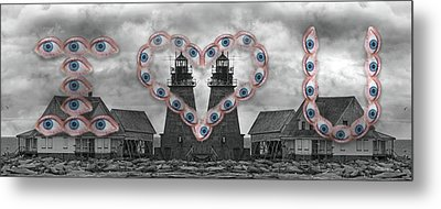 You Are My Lighthouse Metal Print by Betsy Knapp