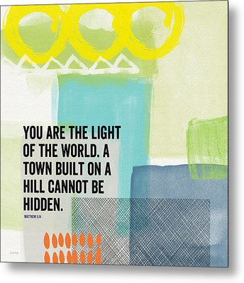 You Are The Light- Contemporary Christian Art By Linda Woods Metal Print by Linda Woods