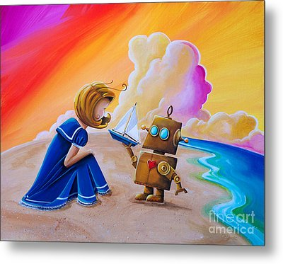 You Can Be Captain Metal Print by Cindy Thornton