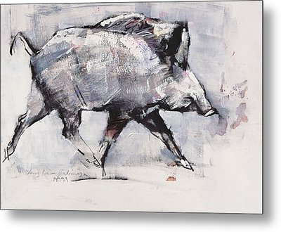 Young Boar Metal Print by Mark Adlington