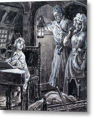 Young Handel Discovered Playing The Harpsichord In The Attic By His Parents Metal Print by CL Doughty