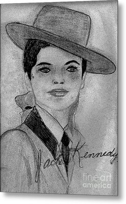 Young Jackie Kennedy Metal Print by Sonya Chalmers