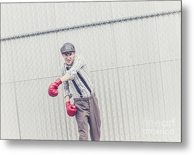 Young Male Boxer Throwing A Offensive Jab Metal Print by Jorgo Photography - Wall Art Gallery