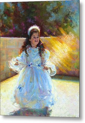 Young Queen Esther Metal Print by Talya Johnson