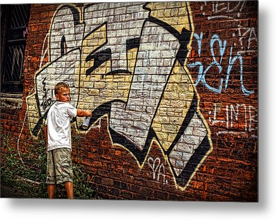 Young Vandal Too Metal Print by Gordon Dean II