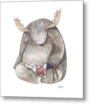 Your Dreams Are Safe With Me Metal Print by Soosh