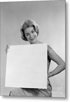 Your Message Here, C.1960s Metal Print by H. Armstrong Roberts/ClassicStock