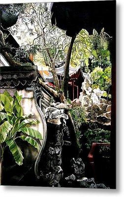 Yu Garden In Shanghai Metal Print by Alfred Ng