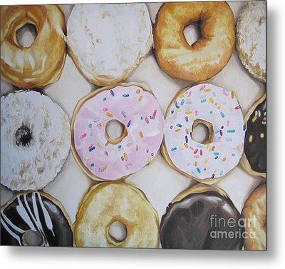 Yummy Donuts Metal Print by Jindra Noewi