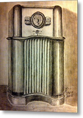 Zenith Radio Metal Print by Irving Starr