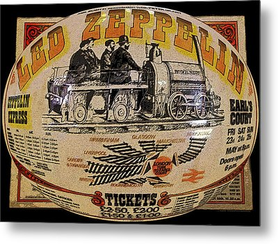 Zeppelin Express Work B Metal Print by David Lee Thompson