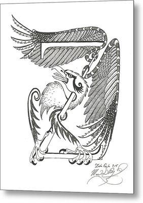 Zeta Eagle Metal Print by Melinda Dare Benfield
