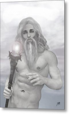 Zeus As Gray Wizard Metal Print by Joaquin Abella