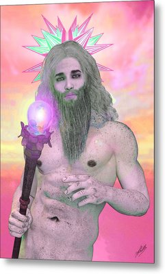 Zeus Seen By Ganymede Metal Print by Quim Abella