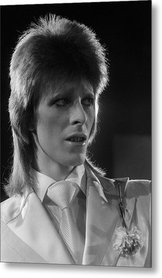 Ziggy At The Marquee Club  Metal Print by Terry O'Neill