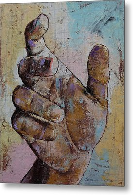 Zombie Hand Metal Print by Michael Creese