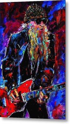 Zz Top Billie Gibbons Metal Print by Debra Hurd