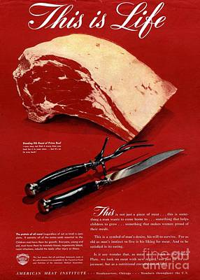 1940s Usa Meat Poster by The Advertising Archives