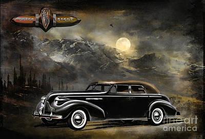 Buick 1939 Poster by Andrzej Szczerski