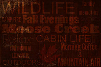 Cabin Life Poster by Chastity Hoff
