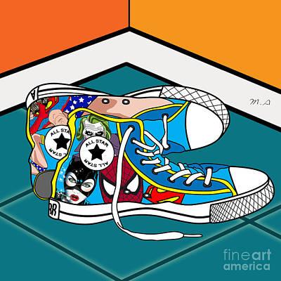Comics Shoes Poster by Mark Ashkenazi