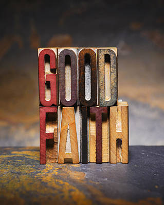 Good Faith Poster by Donald  Erickson