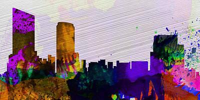 Grand Rapids City Skyline Poster by Naxart Studio