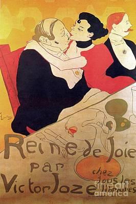 Henri De Toulouse Lautrec 1864 1901 French Painter Reine De Joie 1892 Poster by Anonymous
