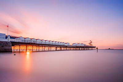 Herne Bay Pier At Sunset Poster by Ian Hufton