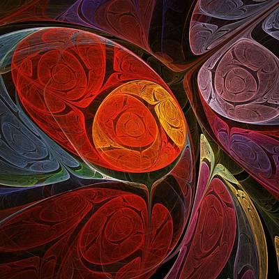 Hypnotic Flower Poster by Anastasiya Malakhova