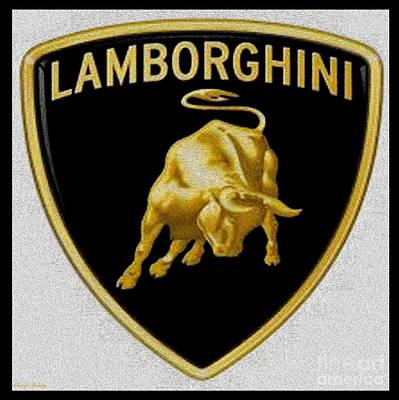 Lamborghini Poster by Cheryl Young