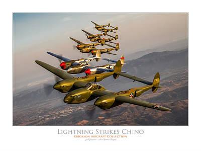 Lightning Strikes Chino Poster by Lyle  Jansma