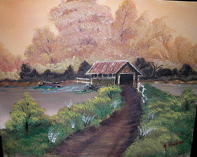 Old Covered Bridge Poster by Ken Frazer
