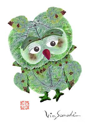 Owl Leaf 2 Summer Poster by Vin Kitayama