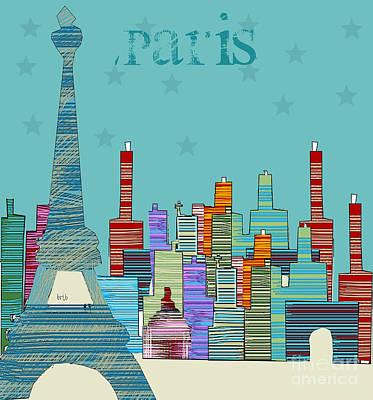 Paris Blues Poster by Bri B