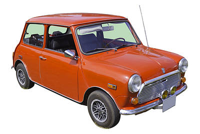 Red Mini Cooper Poster by Keith Webber Jr