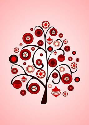 Red Ornaments Poster by Anastasiya Malakhova