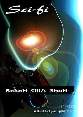 Rekon-cilia-shun Sci-fi Novel Cover Art Poster by Charlie Spear