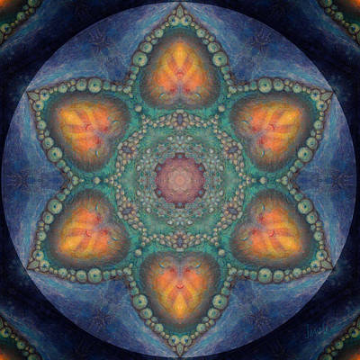 Remembering Dream 6 Petaled Meditation - Introspection Poster by Janelle Schneider